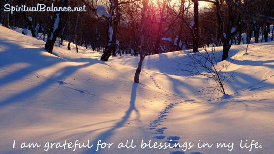 I am grateful for all blessings in my life. ~ Affirmation for Gratitude