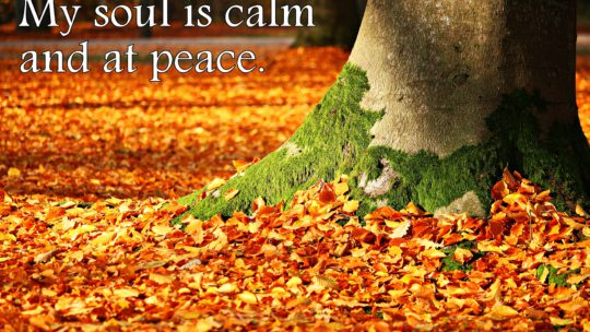 My soul is calm and at peace. ~ Affirmation for Inner Peace and Calmness